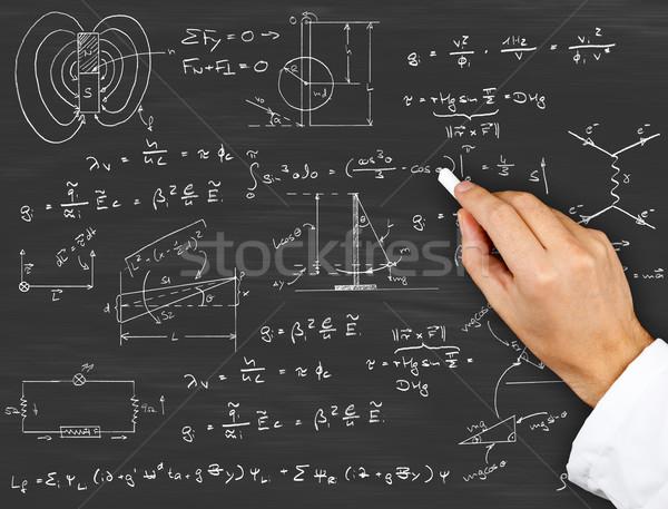 Physics diagrams and formulas Stock photo © ShawnHempel