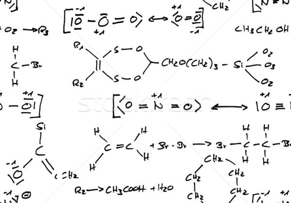 Sem costura químico fórmula fórmulas Foto stock © ShawnHempel