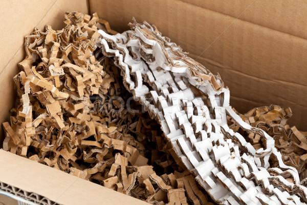 Recycled corrugated cardboard in box Stock photo © ShawnHempel