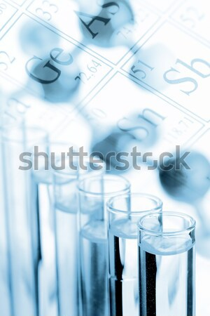 Chimie test modèle biologie science Photo stock © ShawnHempel