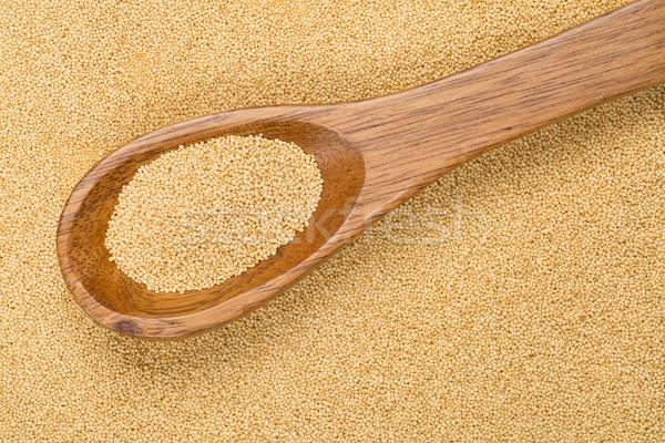 Crudo semillas cuchara de madera alimentos cocina libre Foto stock © ShawnHempel