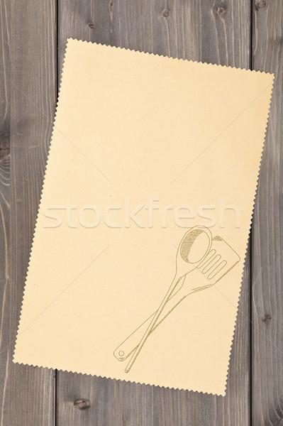 Ricetta vuota carta cottura Foto d'archivio © ShawnHempel