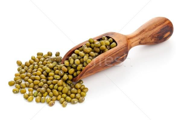 Raw mung beans in scoop Stock photo © ShawnHempel