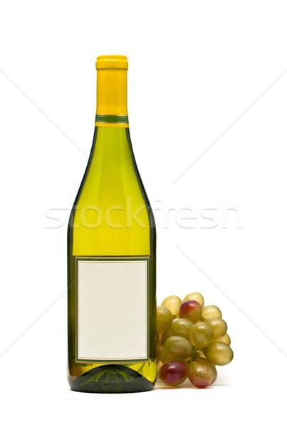 Weinflasche Weißwein Flasche Trauben weiß Sommer trinken Stock foto © ShawnHempel