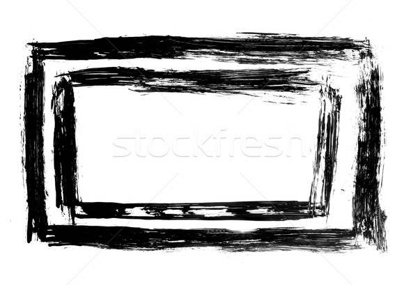Schmutzigen befleckt malen Grunge Rechteck Rahmen Stock foto © ShawnHempel