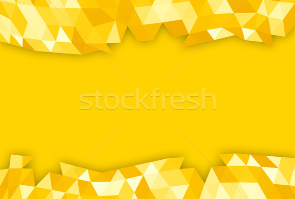 Orange lowpoly banner Stock photo © ShawnHempel