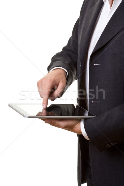 Businessman with tablet pc Stock photo © ShawnHempel