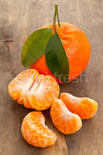 Mandarin slices Stock photo © ShawnHempel
