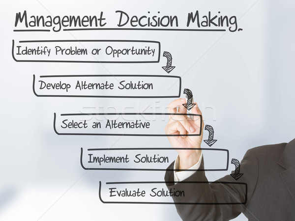Management decision making Stock photo © ShawnHempel