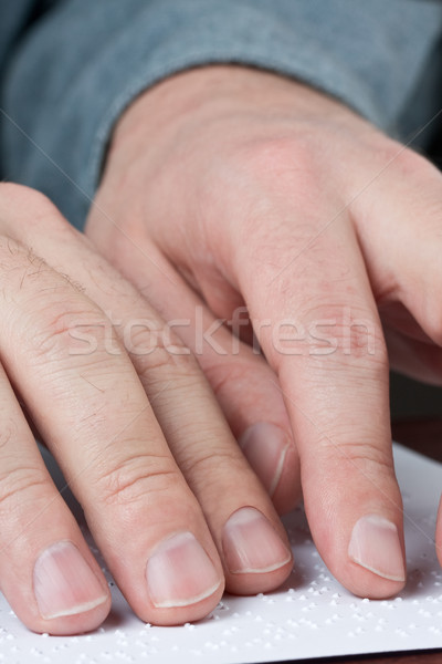 Reading braille Stock photo © ShawnHempel