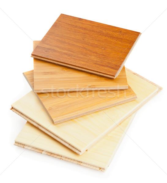 Stock photo: Bamboo laminate flooring
