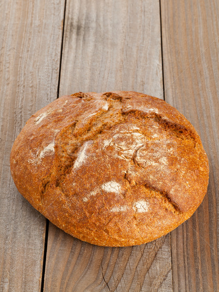 Pan pan madera todo frescos mesa de madera Foto stock © ShawnHempel