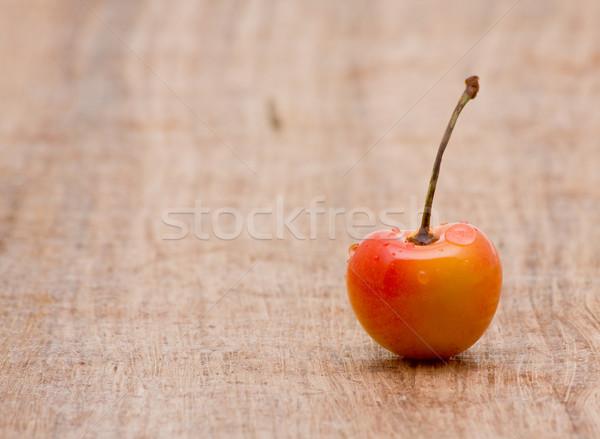 Zdjęcia stock: Wiśni · organiczny · drewniany · stół · kopia · przestrzeń · tle