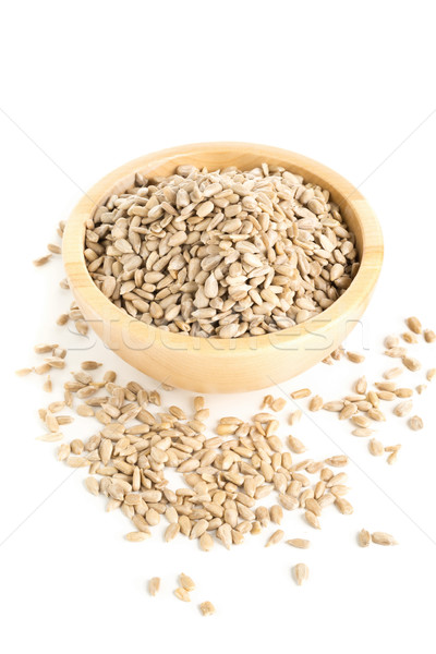 Shelled sunflower seeds in wooden bowl Stock photo © ShawnHempel