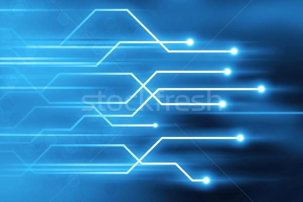 Streszczenie niebieski szlak linie technologii Zdjęcia stock © ShawnHempel