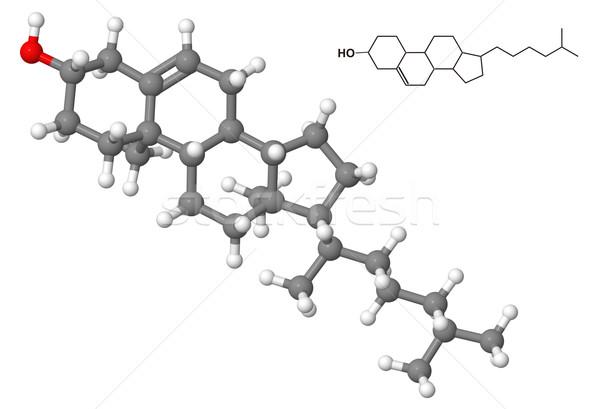 Colesterol químico fórmula isolado branco modelo Foto stock © ShawnHempel