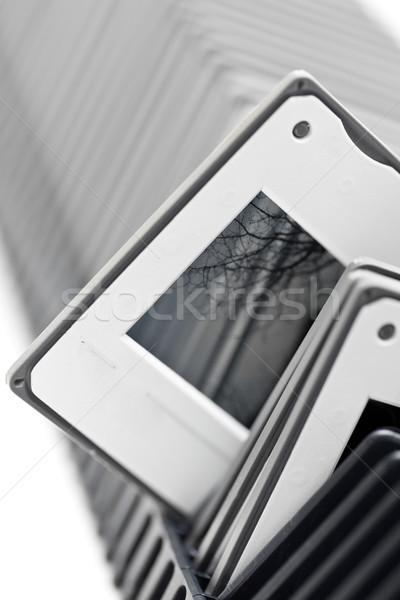 Projector dienblad doorzichtigheid film frame zwarte Stockfoto © ShawnHempel