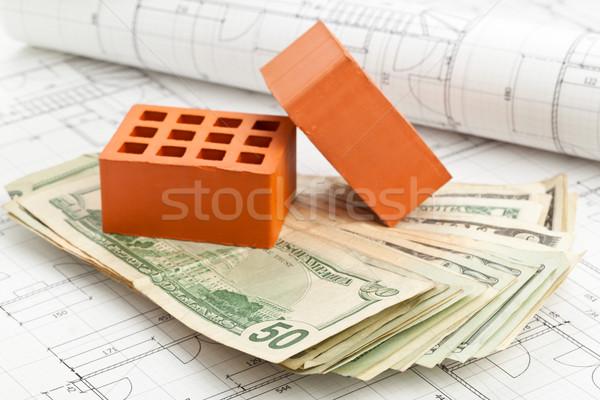 Mattoni costruzione piano mattone pietre dollaro Foto d'archivio © ShawnHempel