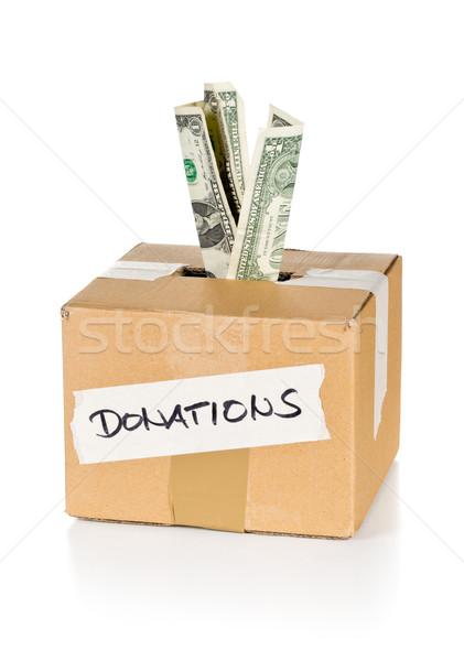 寄付 ドル カートン ボックス ストックフォト © ShawnHempel