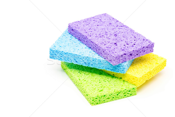 Set of clean cleaning sponges Stock photo © ShawnHempel