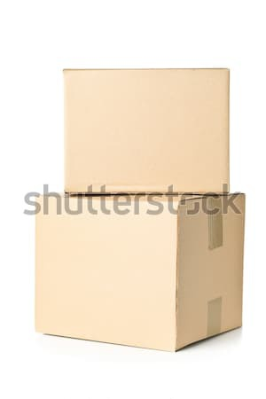 Two corrugated cardboard carton parcels stacked Stock photo © ShawnHempel