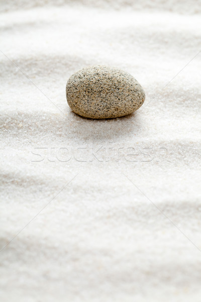 Zen pierre vagues sable accent Rock Photo stock © ShawnHempel