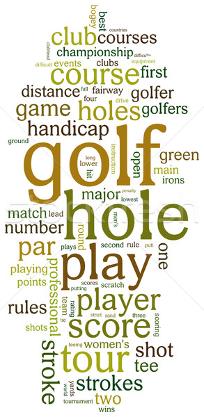 Golf tag cloud Stock photo © ShawnHempel