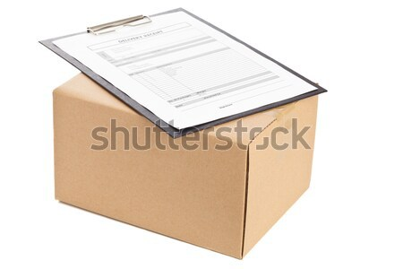 Pakketdienst bruin karton vak vorm Stockfoto © ShawnHempel