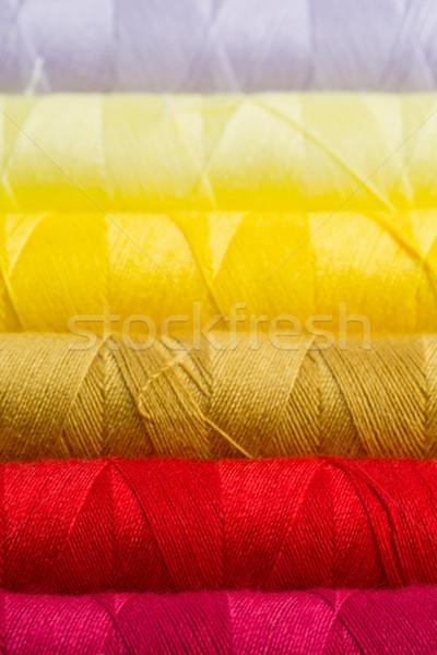 De costura fio colorido fio Foto stock © ShawnHempel