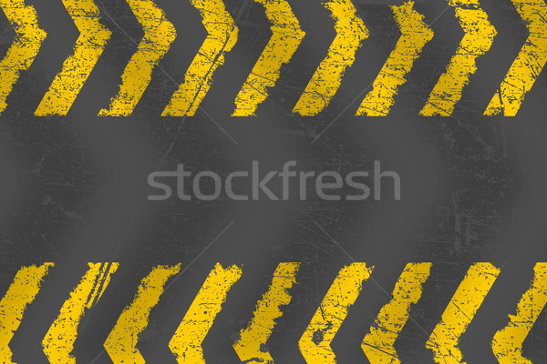 Grunge distressed yellow road marking paintbrush stroke stripes  Stock photo © ShawnHempel