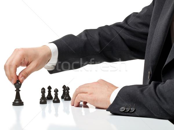 Yönetim iş adamı hareketli satranç anlamaya takım Stok fotoğraf © ShawnHempel