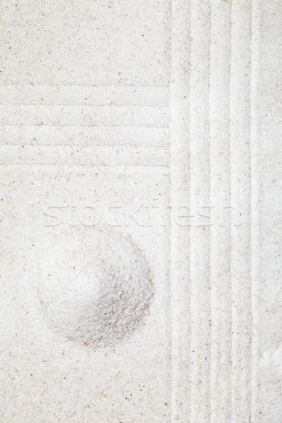 Zdjęcia stock: Zen · ogród · piasku · piramidy · medytacji · wzór