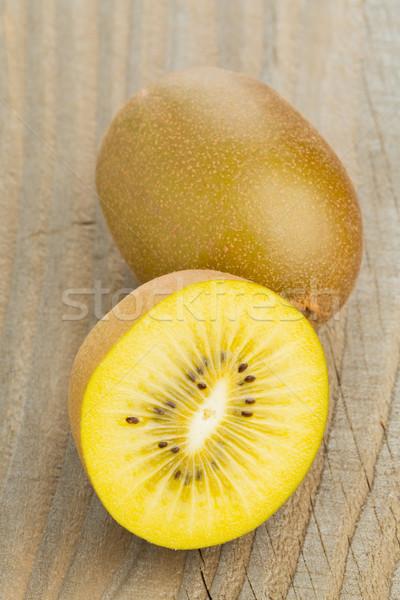 Golden kiwifruit/ kiwi cut and whole Stock photo © ShawnHempel