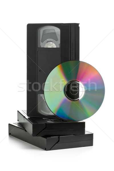 Analogique vidéo disque vieux films Photo stock © ShawnHempel