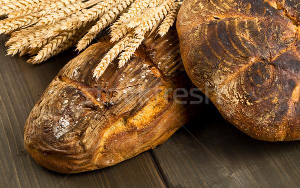 手 パン 小麦 耳 自家製 異なる ストックフォト © ShawnHempel