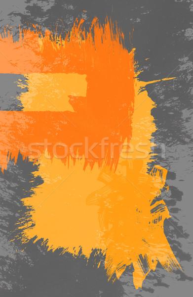 Sucia manchado pintura grunge rectángulo marco Foto stock © ShawnHempel