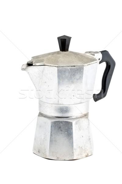 Café expresso casa metal café da manhã branco quente Foto stock © ShawnHempel