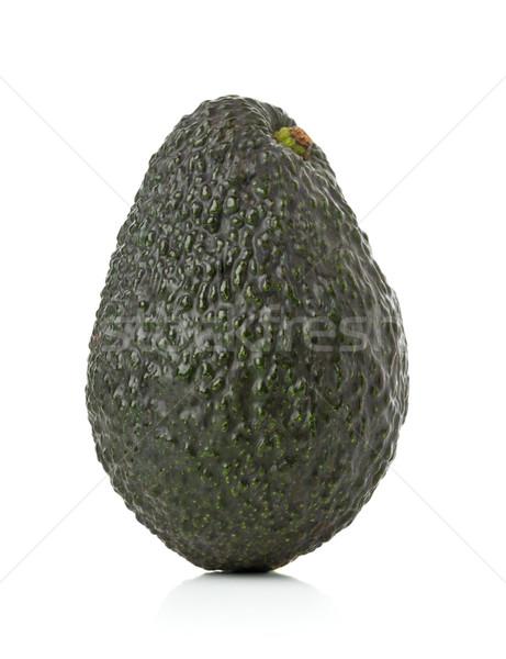 Uncut, whole, ripe avocado fruit Stock photo © ShawnHempel