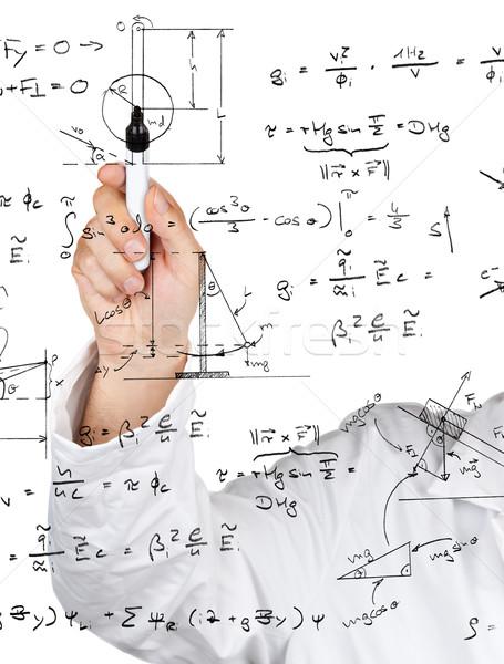 Fysica diagrammen formules onderzoek wetenschapper schrijven Stockfoto © ShawnHempel
