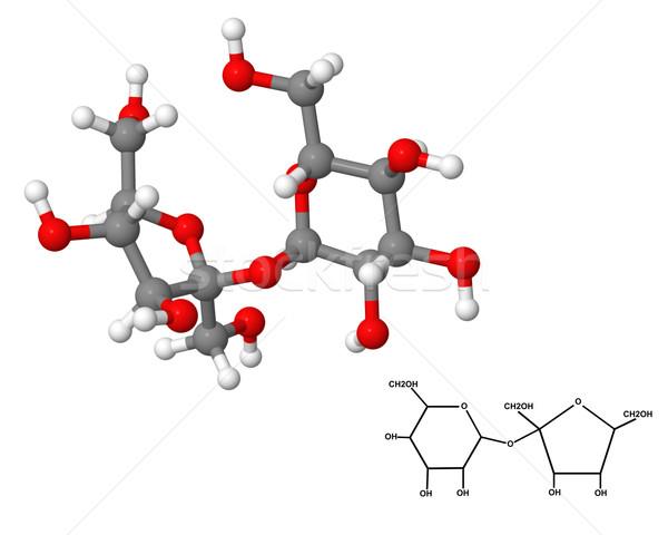 Sucrose molecule with chemical formula Stock photo © ShawnHempel