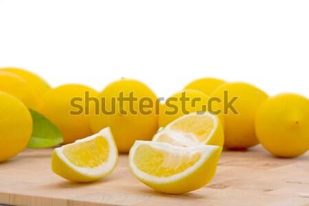 świeże organiczny cytryny liści biały żywności Zdjęcia stock © ShawnHempel