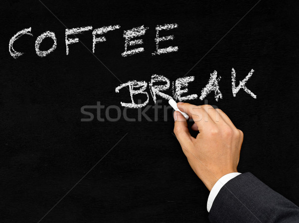 Coffee break blackboard writing Stock photo © ShawnHempel