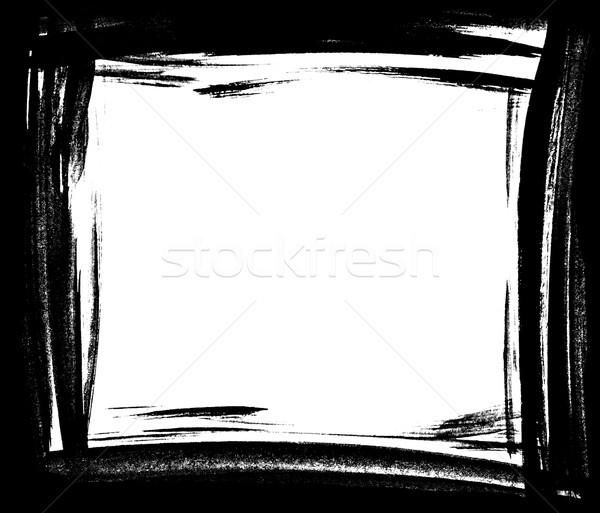 Kirli lekeli boya grunge dikdörtgen çerçeve Stok fotoğraf © ShawnHempel
