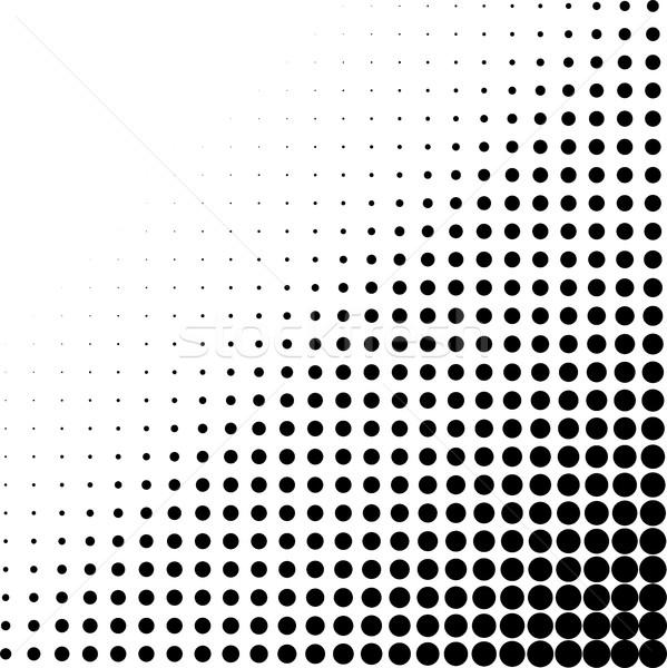 En demi-teinte coin blanc noir modèle texture fond Photo stock © ShawnHempel