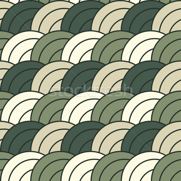Tileable concentric overlapping circles pattern Stock photo © ShawnHempel