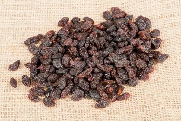 куча изюм брезент коричневый мешок Сток-фото © ShawnHempel