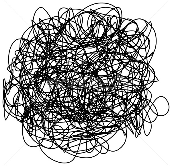 Chaotic hand drawn scribble sketch circle isolated Stock photo © ShawnHempel