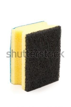 New unused clean yellow cleaning sponge Stock photo © ShawnHempel