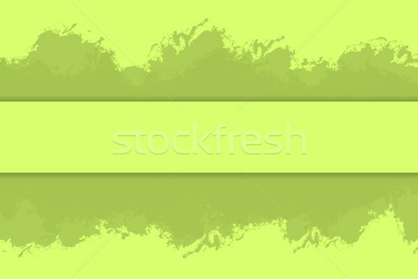 Vert eco peinture grunge rectangle cadre Photo stock © ShawnHempel