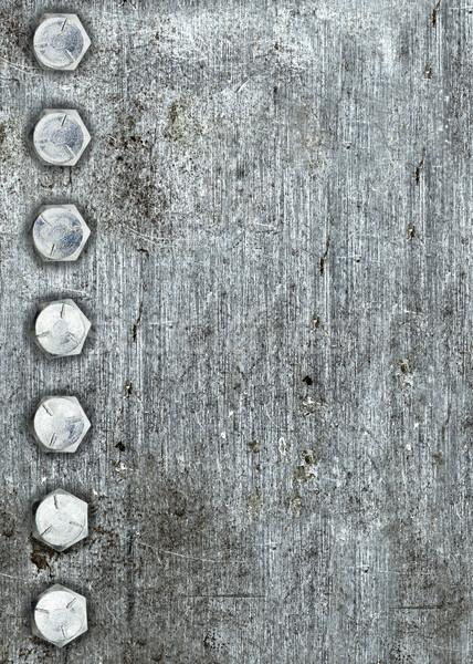 Fém csetepaté fal absztrakt terv tányér Stock fotó © ShawnHempel